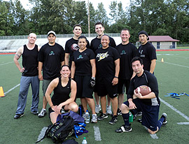 No Touching - Local's Gym - Lynnwood Crossfit Team Photo