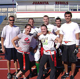 Wacky Waving Inflatable Flailing Arm Tube People Team Photo
