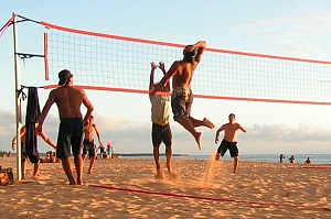 Beach Volleyball Just Around The Corner