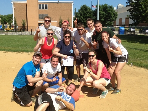 Spring Kickball Champions - Booze on 1st?