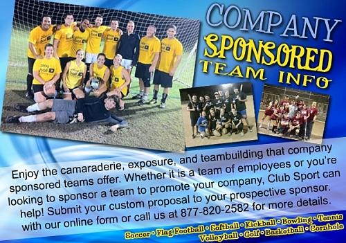Have your company sponsor a team