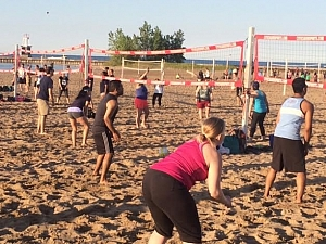 Beach Volleyball Is Underway