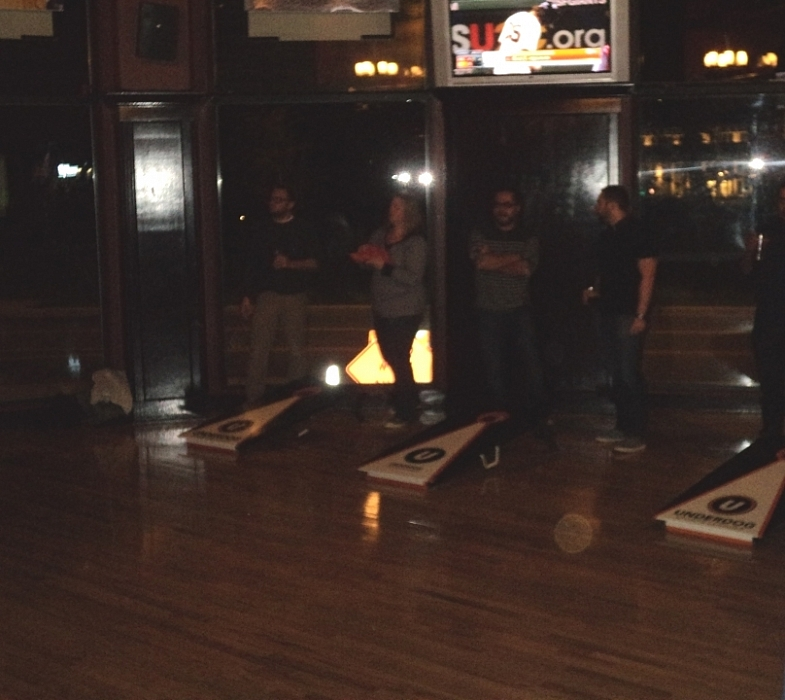 Cornhole at World Sports Grille