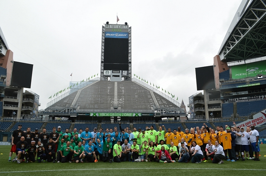 CenturyLink Verizon Football Group Photo