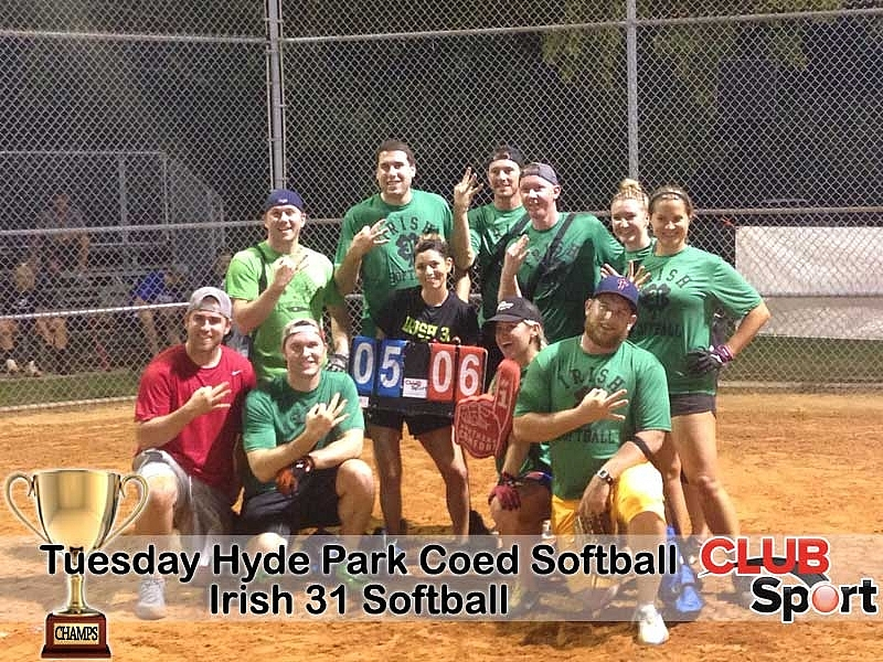 Irish 31 Softball - CHAMPS