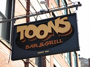 Toons Bar and Grill League Sponsor Bar