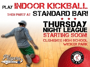 *NEW* Indoor Kickball League Starts in November!