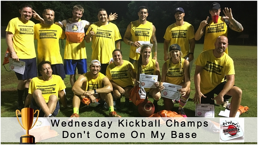 Wednesday Kickball Champs-Spring 17