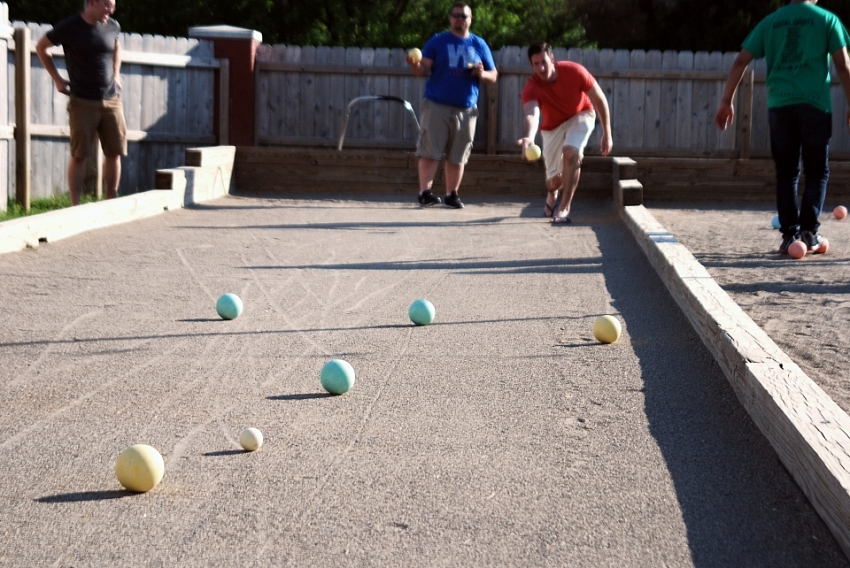 Bocce Ball - Indianapolis Bocce Ball Leagues Rolling Soccer Ball Picture