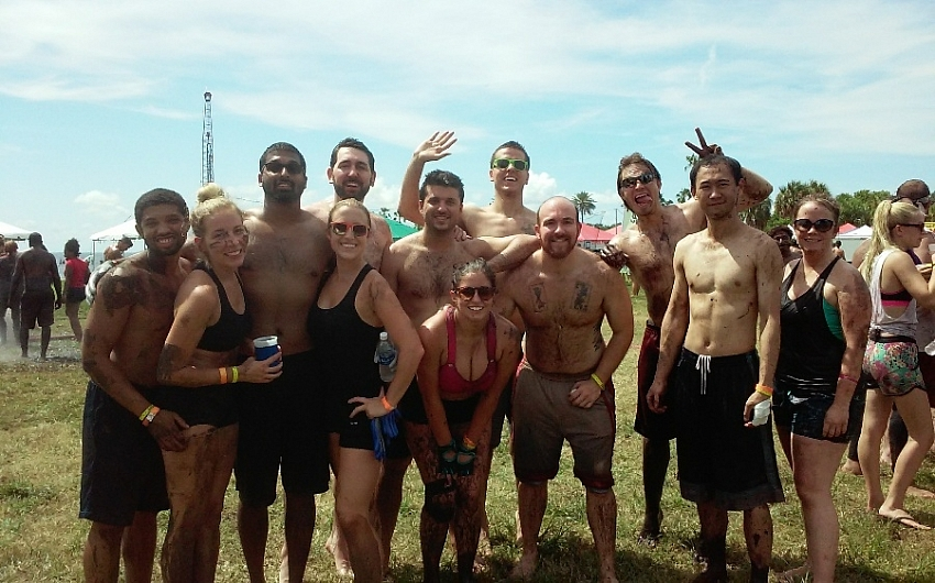 beers, sweat, and mud