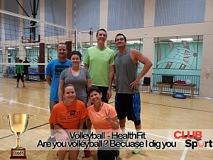 Are you a Volleyball? Because I dig you Team Photo