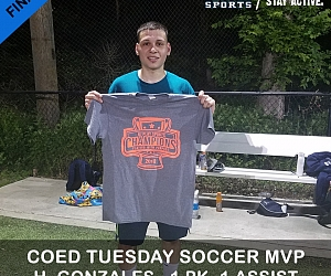 Coed Soccer League TUE PLAYOFFS MVPs