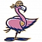 Freaky Flabbergasted Flamingos Team Logo