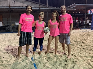 Not Good at Volleyball Puns Team Photo