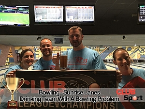 Drinking team w a bowling problem (M) - CHAMPS photo