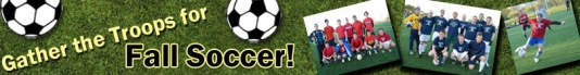 Fall Outdoor Soccer Leagues