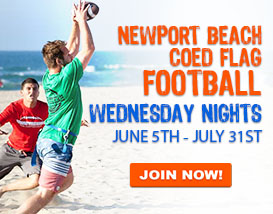 Join our Wednesday Night Beach Football in Newport