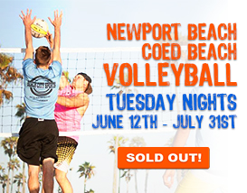 Join our Tuesday Newport Beach Volleyball League!