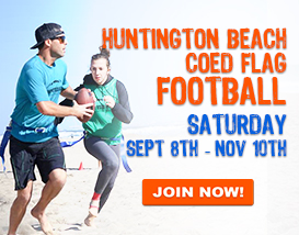 Join our (largest) Saturday Huntington Beach Football League!