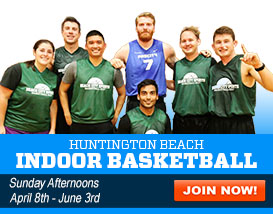 Join our Sunday Huntington Beach Indoor Basketball League!