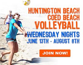 Join our Wednesday Huntington Beach Volleyball League!