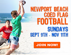 Join our Sunday Newport Beach Flag Football League!