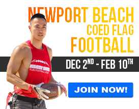 Join our Sunday Newport Beach Football League!