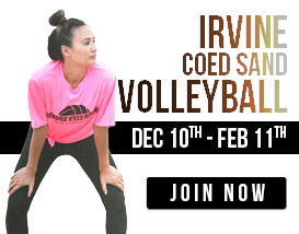 Join our Tuesday night volleyball league in Irvine!