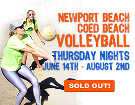 Join our Thursday Newport Beach Volleyball League