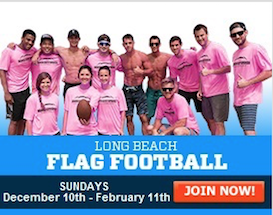Join our Sunday Beach Football League in Belmont Shore!