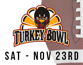 Join our annual Turkey Bowl football tournament in Huntington Beach!