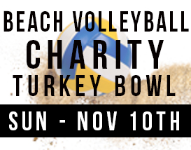 Join our annual Turkey Bowl volleyball tournament in Huntington Beach!