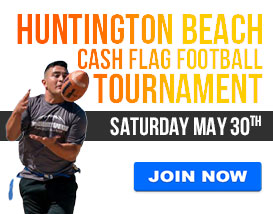 Join our CASH flag football tournament in Huntington Beach!