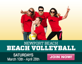 Join our Saturday Newport Beach Volleyball League!