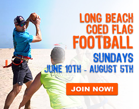 Join our Sunday Long Beach Flag Football League!