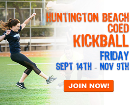 Join our (NEW) Friday Night Kickball League!