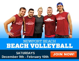 Join our Newport Beach Volleyball League!
