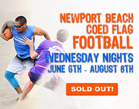 Join our Wednesday Newport Beach Football League!