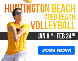 Join our Sunday Adult Volleyball League in Huntington Beach!
