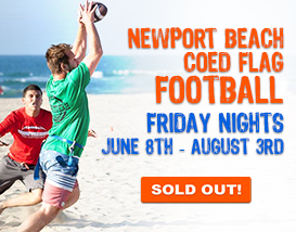 Join our Friday Night Newport Beach Flag Football League!