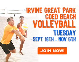 Join our Inaugural Tuesday Sand Volleyball League in Irvine!