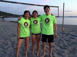beach volleyball team page for froggy style underdog sports