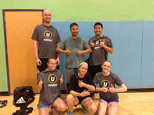 We Find Volleyball Enjoyable Team Photo