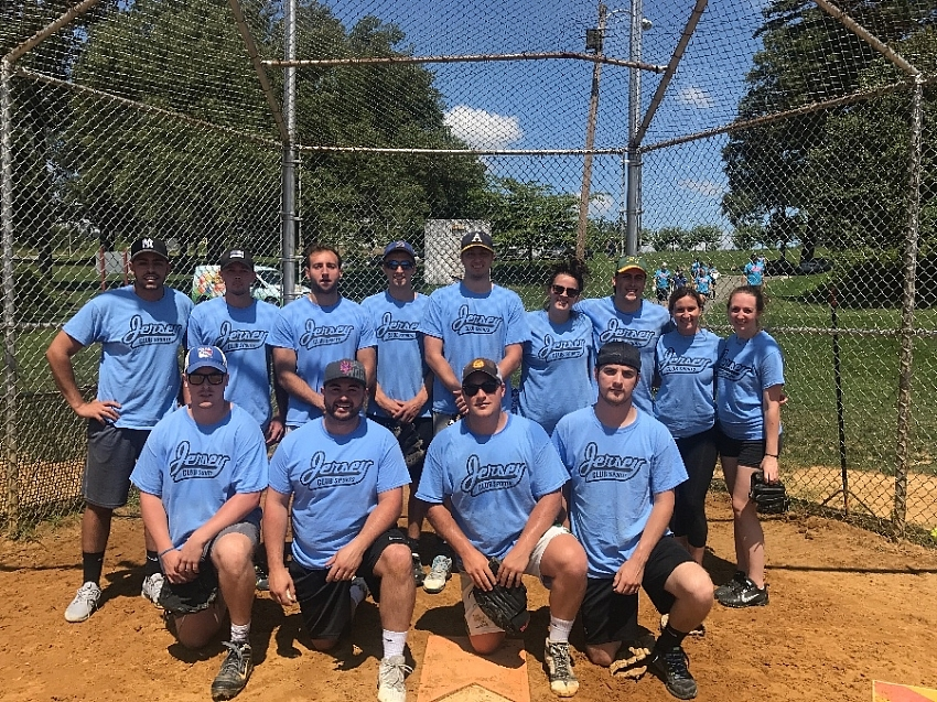 Softball - Team Page for Drinking Team with a Softball