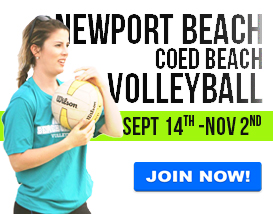 Join our Saturday volleyball league in Newport Beach!