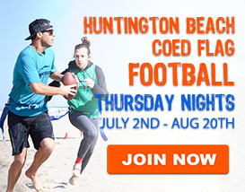 Thursday Night Beach Football in Huntington Beach
