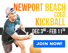 Join our Monday Night Adult League in Newport Beach!