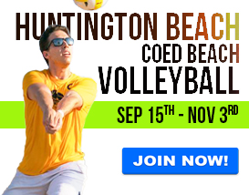 Join our Sunday volleyball league in Huntington Beach!