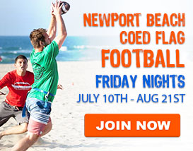 Friday Night Beach Football in Newport Beach