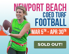 Join our Tuesday Night TURF Flag Football in Newport!